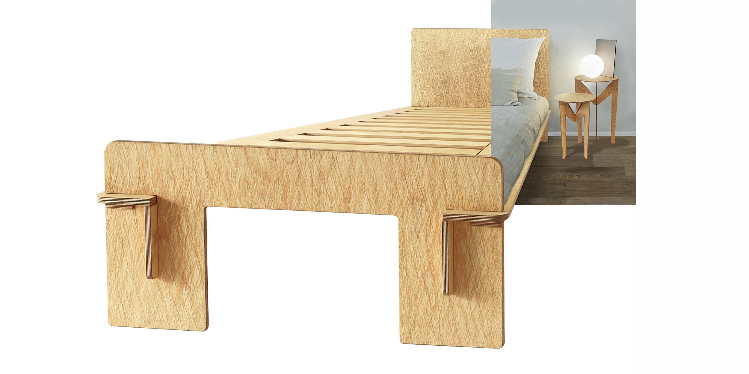 Letti in legno naturale | Radiko